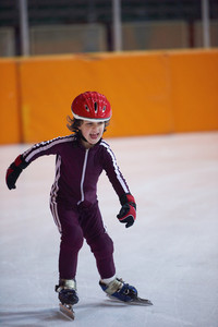 Children speed skating
