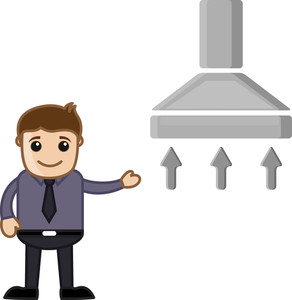 Chimney - Office Character - Vector Illustration