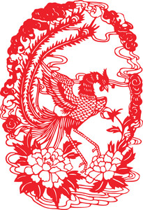Chinese Paper Cutting - Phoenix