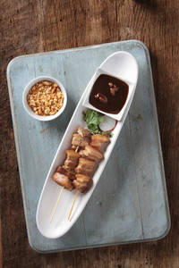 Chinese Pork Kebabs Appetizer