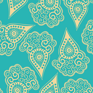 Chinese Seamless Pattern With Paisley.