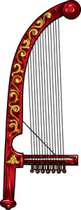 Chinese Vector Music Instrument