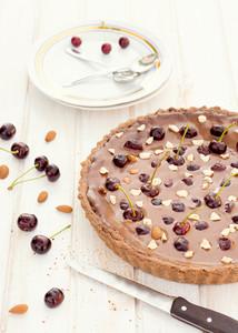 Chocolate And Cherries Tart