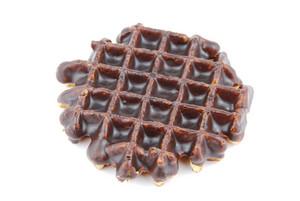Chocolate Belgian Waffle On White