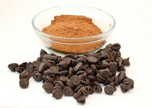 Chocolate Cocoa Powder And Chocolate Chips For Baking