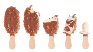 Chocolate Ice Cream Being Eaten Up