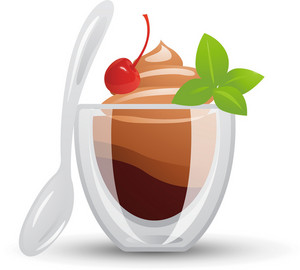 Chocolate Ice Cream Bowl Icon