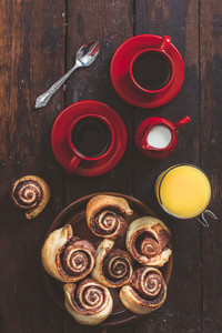 Chocolate Rolls And Coffee