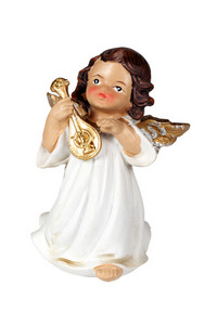 Christmas Angel Figurine As Musicians