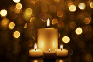 Christmas Background - Festival Candle