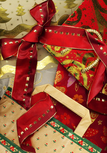 Christmas Background Made Of Christmas Gifts