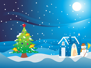 Christmas  Background Night