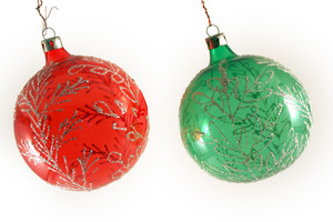 Christmas Balls Isolated Over White Background