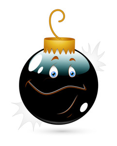 Christmas Bauble Happy Smiley Vector