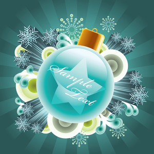 Christmas Bauble With Your Message