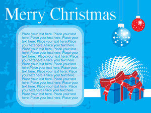 Christmas Blue Background With Palce For The Text