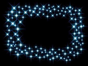 Christmas Blue Light Frame