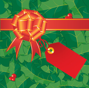 Christmas Bow. Vector.