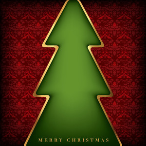 Christmas Card Background Design - Red Background