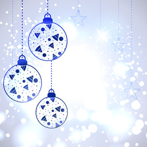 Christmas Card Or Background With Decorative Eve Balls