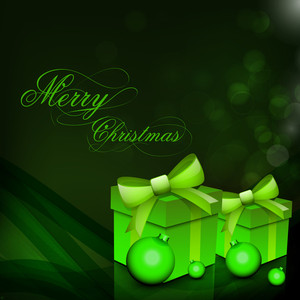 Christmas Card Or Background With Gift Boxes