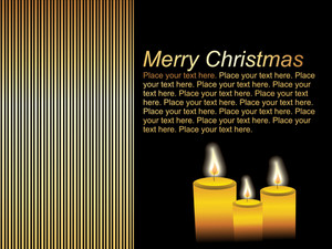 Christmas Card With Fire Candle Vector