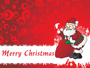Christmas Day Background With Santa