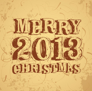 Christmas Decoration. Calligraphic Vintage Vector Template.