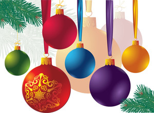 Christmas Decoration Elements. Vector.