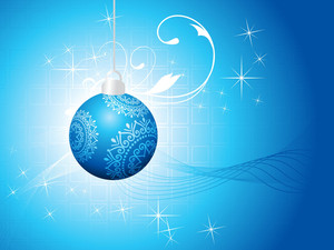 Christmas Decoration Isolated On Blue