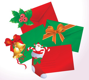 Christmas Envelopes. Vector.