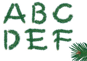 Christmas Fur Abc. Vector