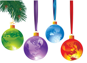 Christmas Globe. Vector.