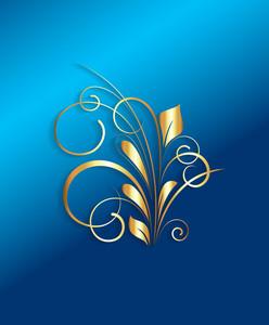 Christmas Golden Flourish