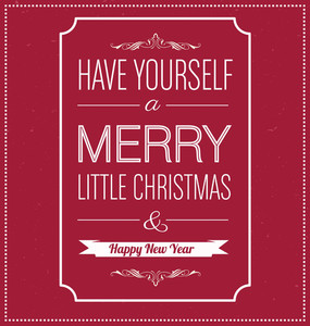 Christmas Greeting Card - Typographic Design