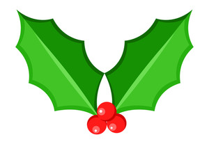 Christmas Holy Leaf Vector