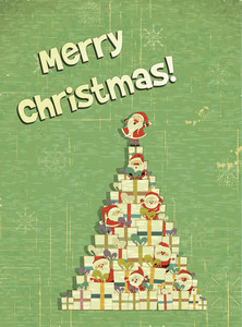 Christmas Illustration With Christmas Tree