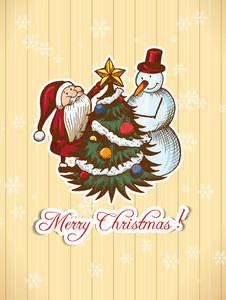 Christmas Illustration With Santa