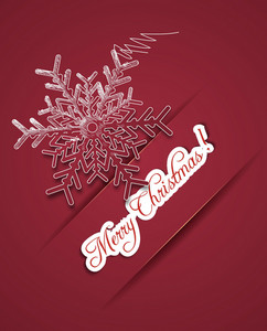 Christmas Illustration With Snow Flake