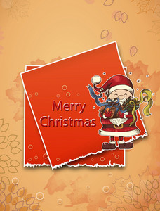 Christmas Illustration With Sticker