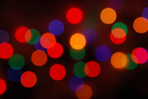 Christmas Lights Glowing (blur Motion Background)