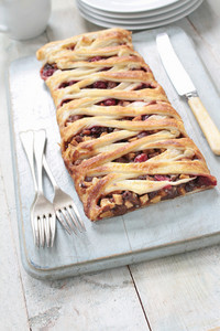 Christmas Mince And Cranberry Lattice Tart
