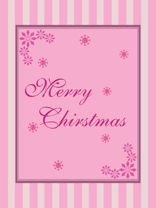 Christmas  Pink Card Wallpaper