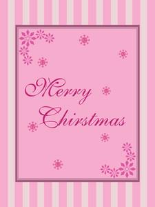 Christmas  Pink Card Wallpaper