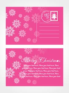 Christmas Post Card With Snowflake