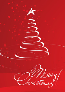 Christmas Red Decoration. Vector