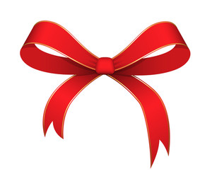 Christmas Ribbon Bow Vector