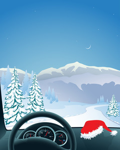Christmas Road.vector
