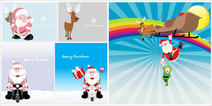 Christmas Santa Vector Backgrounds