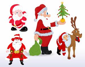 Christmas Santa Vectors